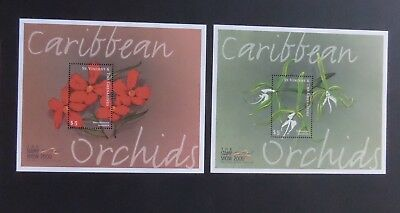 St Vincent 2000 Shamp Show Flowers Ochid MS4549 MNH UM unmounted mint