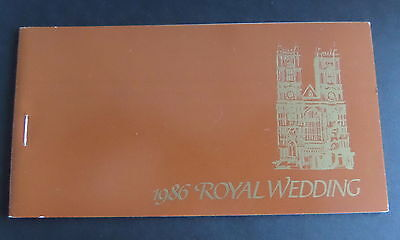 Bequia Gren St Vincent 1986 Royal Wedding  Sarah Booklet MNH UM unmounted mint
