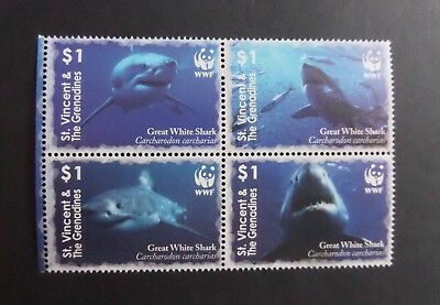 St Vincent 2006 Endangered Species Shark SG5572/5 MNH UM unmounted mint