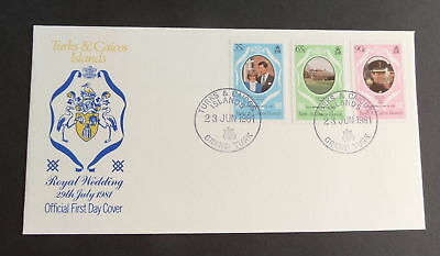 Turks & Caicos 1981 Royal Wedding FDC First Day Cover