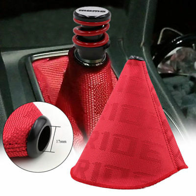 JDM BRIDE RACING HYPER FABRIC Shift Knob Shifter Boot Cover MT/AT Red Stitches