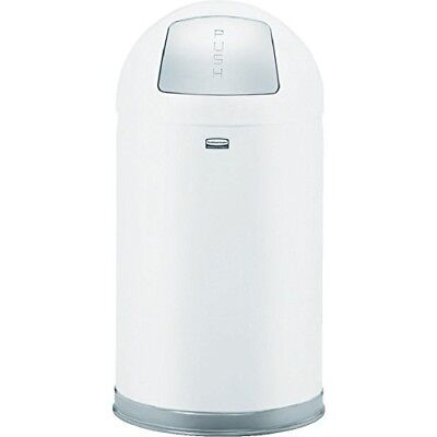 Rubbermaid Commercial Marshal Refuse Container, Round Top, 12 gal, White (FGR153