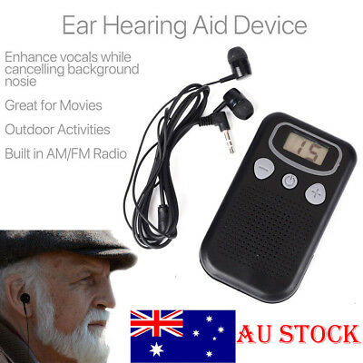 Rechargeable Pair Digital Hearing Aids Sound Amplifier Personal Ear Value USB AU