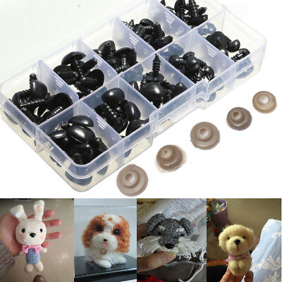 100x 8/9/11/13.5/15mm Black Plastic Safety Nose Triangle For Doll Teddy Stuffed