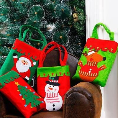 Christmas Santa Claus Gift Bags Merry Christmas Candy Bags Durable Pouch JJ