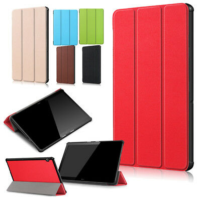 For Huawei MediaPad T5 10 Leather Thin Smart Folding Stand Case Cover Tablet UK