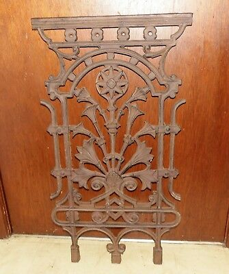 Antique Theater Post Office Bank Teller Window Iron Grate Architectural Salvage