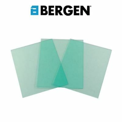 BERGEN Replacement Front Safety Lenses For Welding Helmet 10 Pack 2912