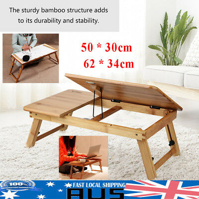 Portable Bamboo Laptop Tray Desk Lazy Bed Computer Table Holder Notebook Stand