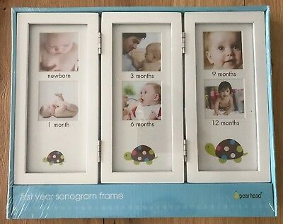 Pearhead - Baby's First Year Photo Sonogram Frame - NEW Sealed In Packaging