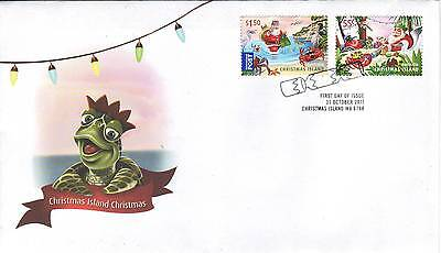 CHRISTMAS ISLAND  2011 CHRISTMAS set on FDC - Santa Claus and Red Crabs