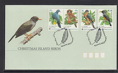 CHRISTMAS Island 2002 BIRDS Wildlife design set of 4 on FDC -