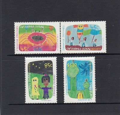 CHRISTMAS Island 1999 FAVORITE FESTIVALS design set of 4 MNH - Child ART.