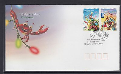CHRISTMAS ISLAND 2008 CHRISTMAS set on FDC - CRABS Marine life /  Wildlife.