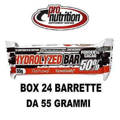 Pronutrition Hydrolyzed Bar 50% Proteine Zero Zuccheri 24 Barrette Da 55 Grammi