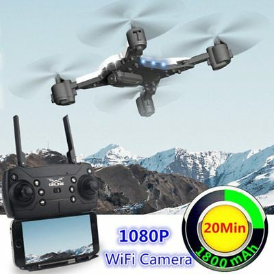RC Helicopter Drone with Camera HD 1080P WIFI FPV Selfie Drone Professional Fold