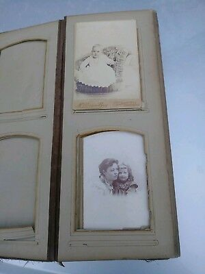 VINTAGE 1890 PHOTO ALBUM portraits Illinois