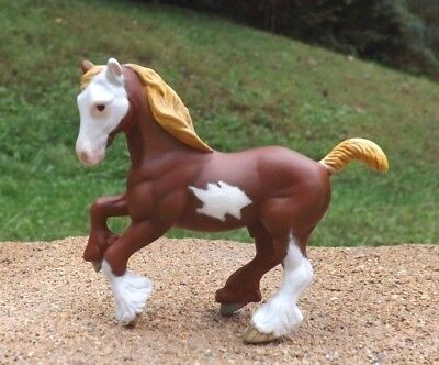 Breyer SM stablemate horse figurine CM Pinto chestnut drafter custom Draft