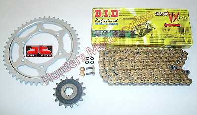 Kawasaki ZX6R G1  G2 DID Gold X-Ring Chain & JT RB Front & Rear Sprocket Kit Set