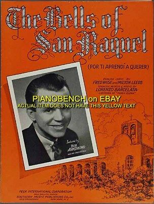 THE BELLS OF SAN RAQUEL English & Spanish BOB ARMSTRONG ORCHESTRA Sheet Music