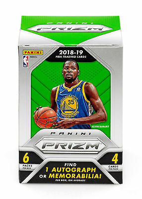2018-19 Panini Prizm Basketball Sealed BLASTER Retail 6 pack Box 1 Auto or Patch