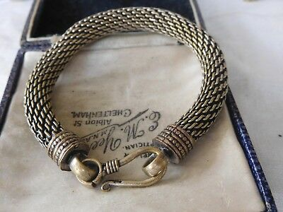 Lovely Vintage 1960s Decorative Silver Bracelet