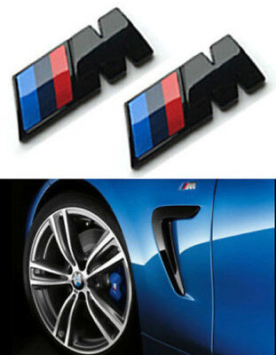 2X LOGO EMBLEMA 3D BMW M SPORT 45MM LATERALE ADESIVO STEMMA BADGE Emblem ABS New