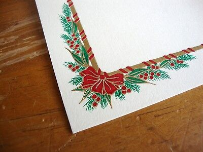 10 Crane's  Engraved Christmas Holiday Cards and Lined Envelopes NOS