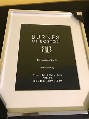 Burnes Of Boston Photo Frame Silver 11 X 14 Matted To A 8 X 10 New