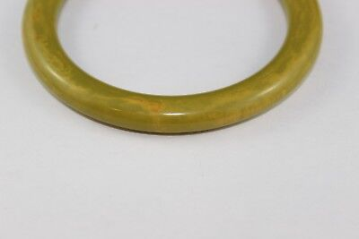 Gorgeous  Vintage End Of Day Green/yellow  Marbled  Bakelite Bangle Bracelet