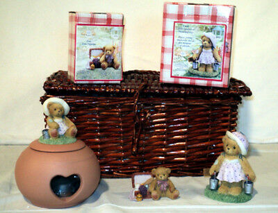 Cherished Teddies Rare 2003 MEMBEAR BASKET KIT CT2R03 Lowell, Leah, Candleholder