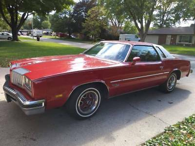 1977 Oldsmobile Cutlass Supreme Brougham 2 dr 1977 OLDSMOBILE CUTLASS SUPREME BROUGHAM RED 2DR LANDAU TOP 87K ORIGINAL MILES