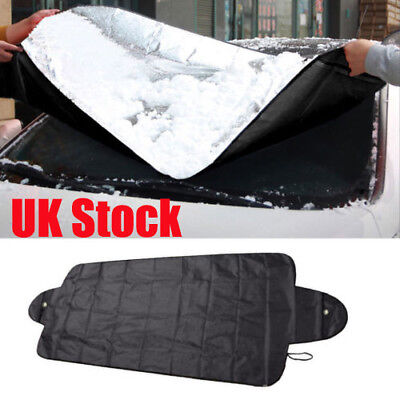 Black Windscreen Cover Car Window Screen Ice Shield Frost Snow Dust Protector UK