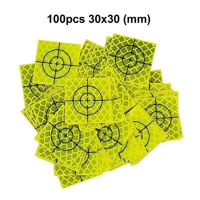 100pcs Fluorescent yellow-green Retro Reflective Target 30mm FOR total station