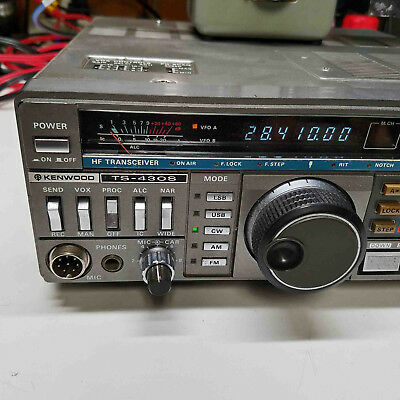 Kenwood TS-430S HF Transceiver 100W with FM Unit, General Coverage RX & TX