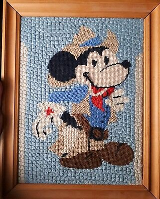 Disney Mickey Mouse Picture In Frame cross stitch