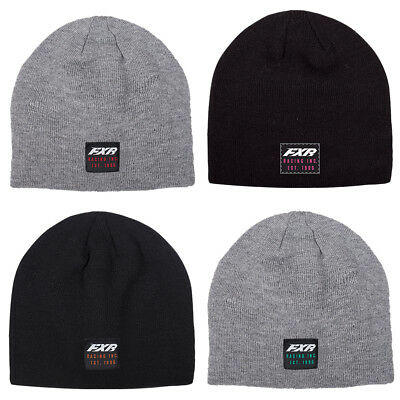 FXR Infinite Beanie Hat Soft Acrylic Knit Classic Skull Fit Embroidered Logos