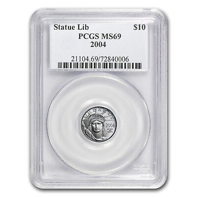 2004 1/10 oz Platinum American Eagle MS-69 PCGS - SKU#11465
