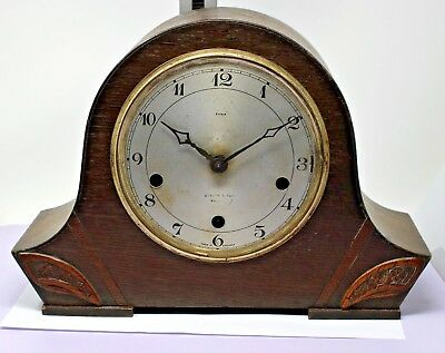 Enfield Wesminster chime mantle clock.For spares or repairs.