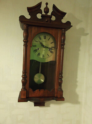 MAXIM 31 DAY WALL CLOCK1/2 Hr SINGLE CHIME & HOUR STRIKING PENDULUM & KEY WORKS