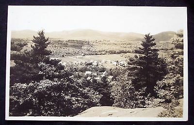 RPPC antique 1922 real photo postcard Camden Maine ME town view houses