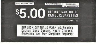 5 00 Worth Of Camel Cigarette Coupons 4 Coupons 0 99 Picclick