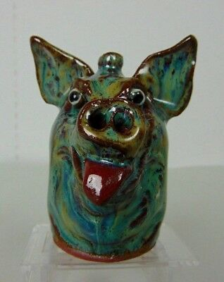 Marvin Bailey Indigenous Southern Primitive Folk Art Mini Pig Face Jug GP2