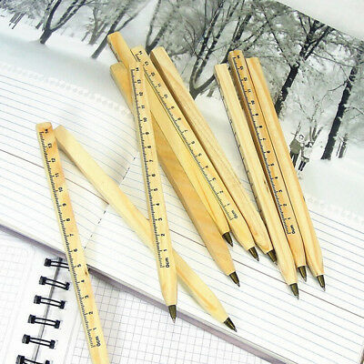 Handmade wooden ruler design manual ballpoint pen DIY multifunction ballpen MAE