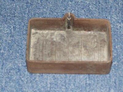 Wylex Fuse Cover 4 way cover -  brown bakalite