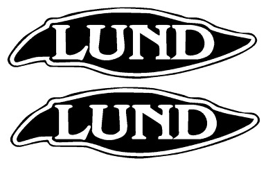 "YOUR COLOR CHOICE PAIR OF 8/"" X 28/"" LUND BOAT HULL DECALS MARINE GRADE 123"