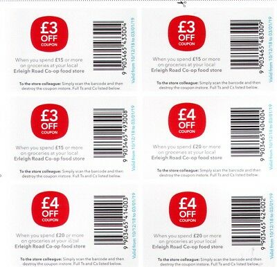 £21 worth of Co-op vouchers coupons expiring 3/1/19 use in Reading Erleigh store