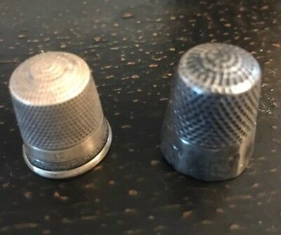 Two Vintage Sewing Thimbles