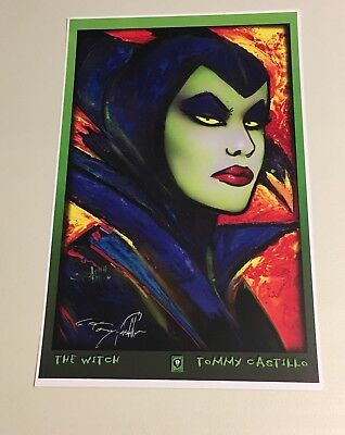 """The Witch By Tommy Castillo 11""""x17"""" Art Print Signed By Artist"""