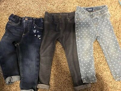 6ad4601959b925 OLD NAVY BABY Girl Jeans Jeggings Leggings Size 12-18 Months Lot Of ...
